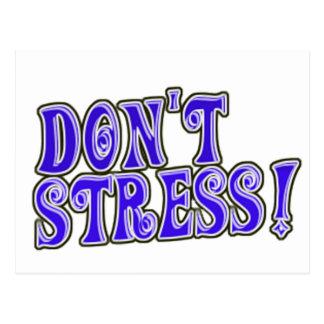 Don't Stress Postcard