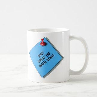 DON'T SWEAT SMALL STUFF MEMO CLASSIC WHITE COFFEE MUG