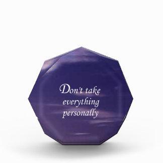 Don't Take Everything Personally Award