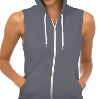 Women's American Apparel California Fleece Sleeveless Zip Hoodie