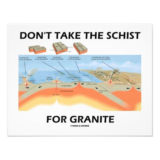 Don't Take The Schist For Granite (Geology Humor) Custom Invitations