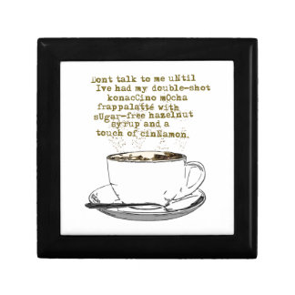 Don't Talk Need Coffee Gift Boxes