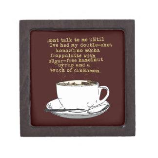 Don't Talk Need Coffee Jewelry Box