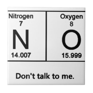 Don't Talk To Me Periodic Table Tile
