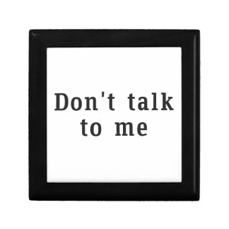 """Don't talk to me"" Photo in Frame Gift Box"