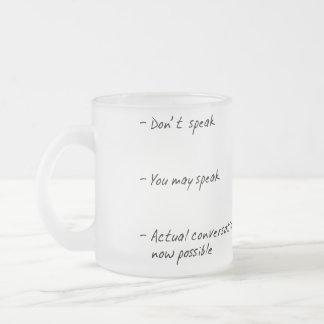 DON'T TALK TO ME UNTIL I HAVE COFFEE HUMOR MUG