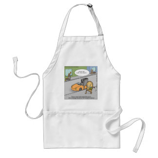 Don't Talk To Strangers Funny Adult Apron