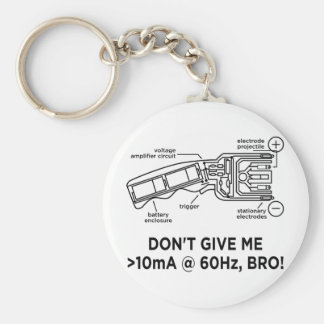 Don't Tase Me with Science Bro Keychain