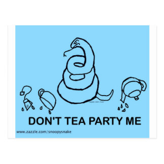 Don't Tea Party Me - blue Postcard