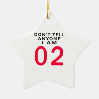 Don't Tell Anyone I Am 02 Double-Sided Star Ceramic Christmas Ornament