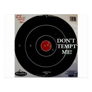DON'T TEMPT ME POSTCARD