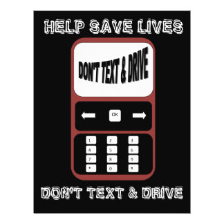 don't text and drive help save lives flyer