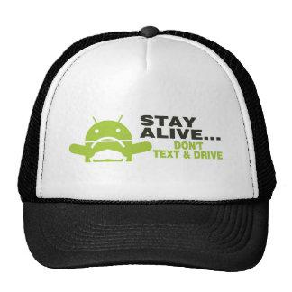Don't text & drive trucker hat