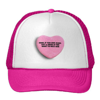 Don't Text & Drive: HONK IF YOU LOVE JESUS. Mesh Hats