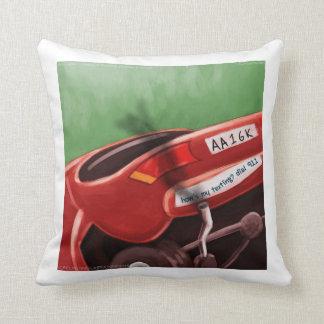Dont Text & Drive Rick London Cotton Throw Pillow