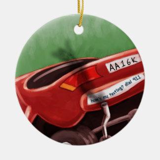 Dont Text & Drive Rick London Funny Ceramic Ornament