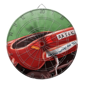 Dont Text & Drive Rick London Funny Dartboard With Darts