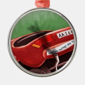 Dont Text & Drive Rick London Funny Metal Ornament