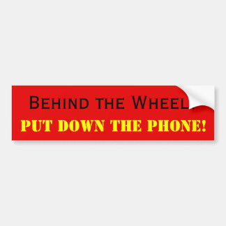 Don't text/talk and drive bumper sticker