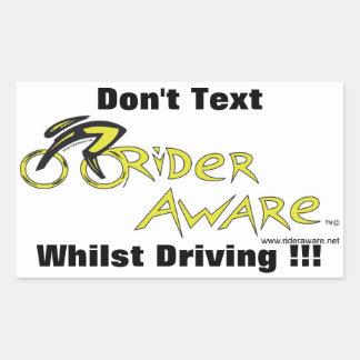 Don't Text Whilst Drivig Rectangular Sticker