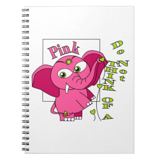 Don't think of a pink elephant. note book