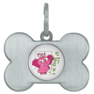 Don't think of a pink elephant. pet ID tag