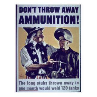Don't_Throw_Away_Propaganda Poster Postcard