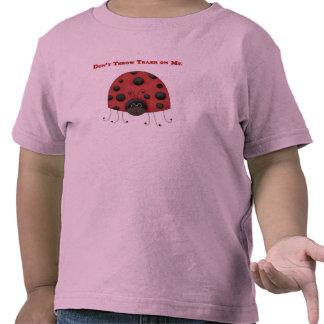Don't Throw Trash on Me ladybug Shirts