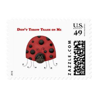 Don't Throw Trash on Me ladybug Stamp