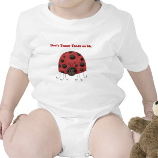 Don't Throw Trash on Me ladybug Tees
