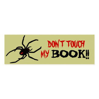 Don't Touch Bookmark Mini Business Card