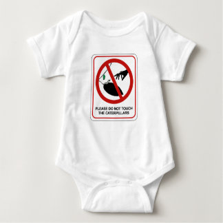 Don't Touch Caterpillars (2), Sign, California, US Baby Bodysuit