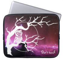 Don't Touch Computer Sleeve Owl Design