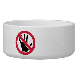 Don't touch hand bowl