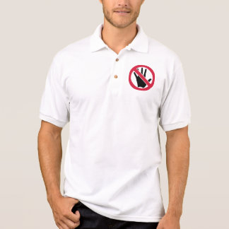 Don't touch hand polo shirt