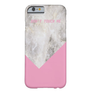 Don't Touch Me Minimal Marble w\ Color Block Barely There iPhone 6 Case