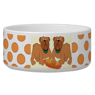 Don't Touch My Hot Dog--Bowl Pet Bowls