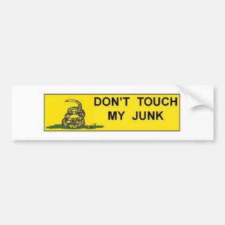 Don't Touch My Junk Bumper Sticker