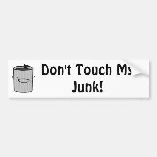 Don't Touch My Junk! Car Bumper Sticker