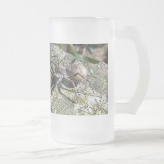 Don't touch my spider,man! frosted glass beer mug