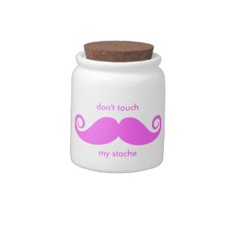 don't touch my stache candy dishes
