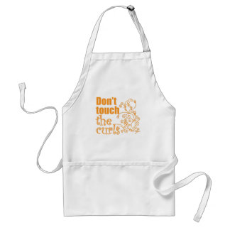 Don't Touch the Curls! Adult Apron