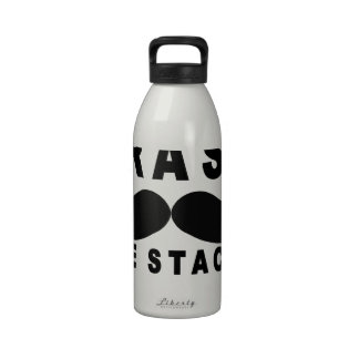 dont trash the stache shirt MK.png Drinking Bottles