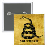 Don't Tread Me Customizable Button Button
