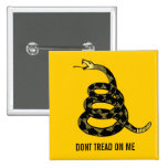 Don't Tread Me Customizable Button Pins