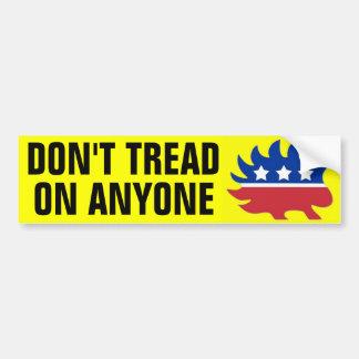 Don't Tread on Anyone Bumper Sticker