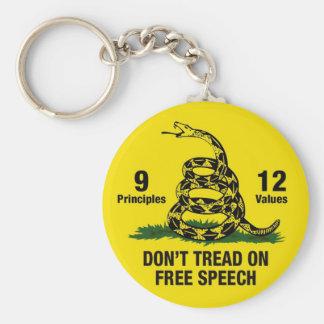 Don't Tread on Free Speech Keychains