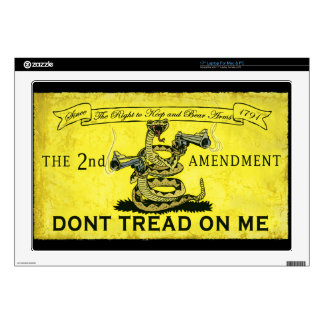 "Dont Tread on Me 17"" Laptop Skins"