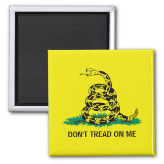DON'T TREAD ON ME 2 INCH SQUARE MAGNET