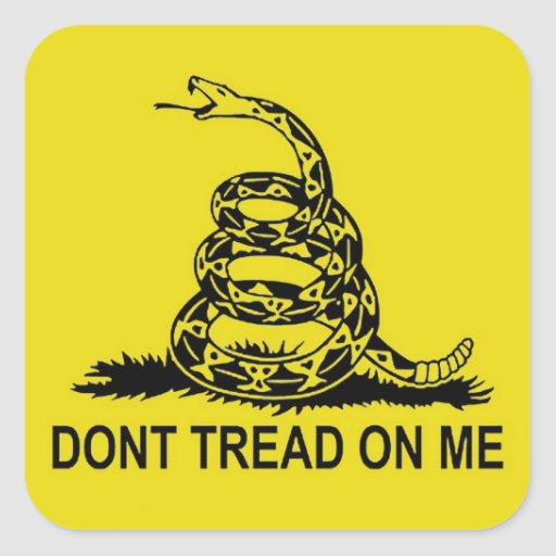DON'T TREAD ON ME 2ND AMENDMENT UNITED STATES STICKERS
